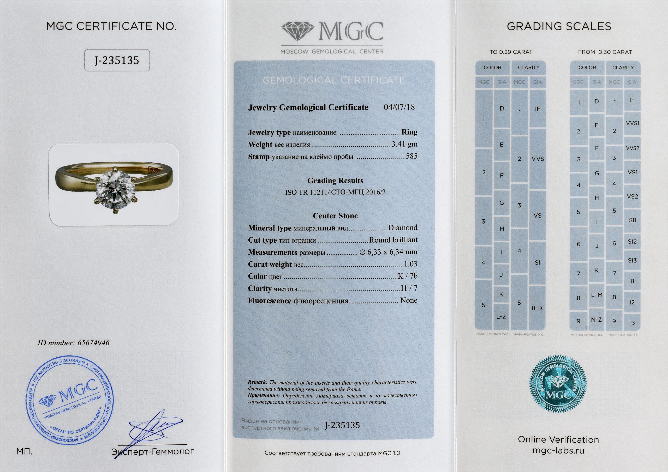 сертификат украшения