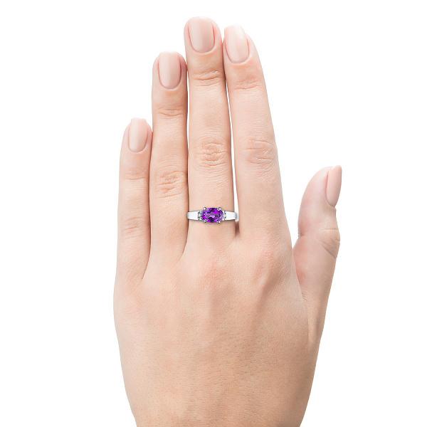 кольцо серебро с аметистом