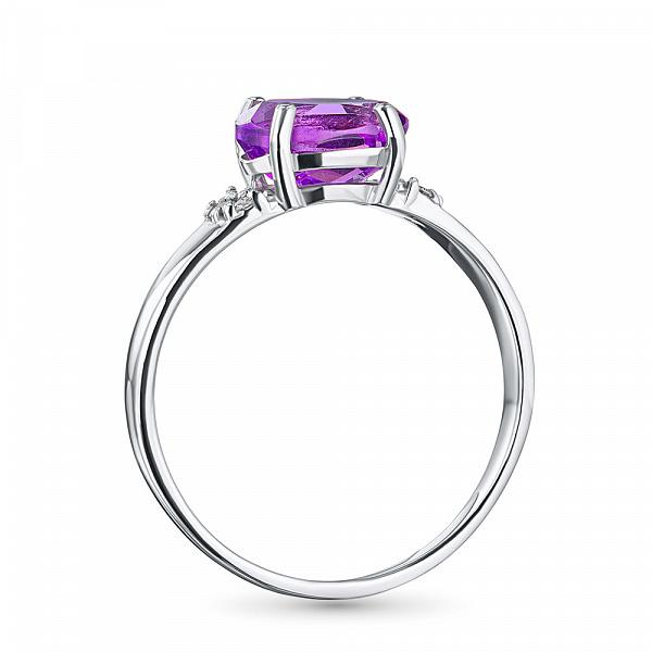 кольцо с аместистом