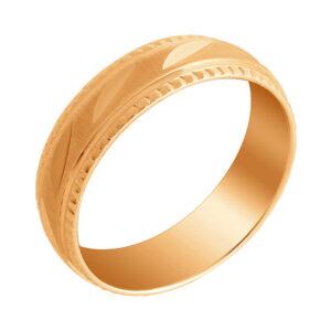 обручальное кольцо с алмазной огранкой