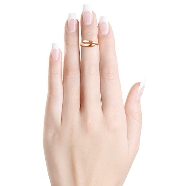 Кольцо из золота без вставок на фалангу