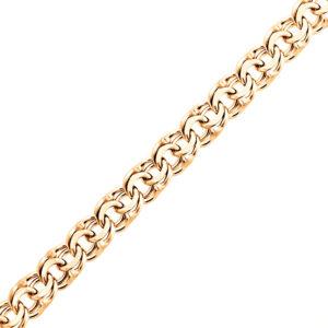 Цепь ручной вязки «Бисмарк» из красного золота