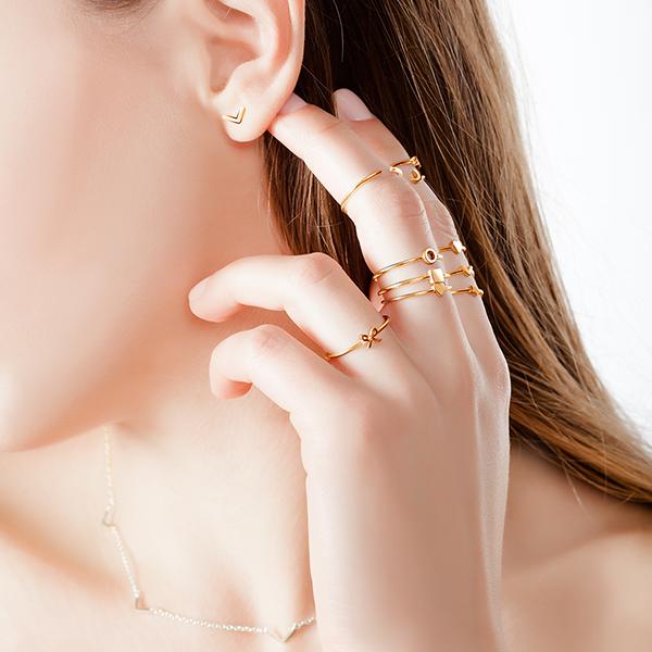 кольцо без вставок из желтого золота