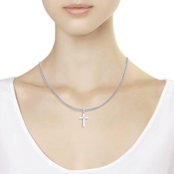 крестик подвеска из серебра