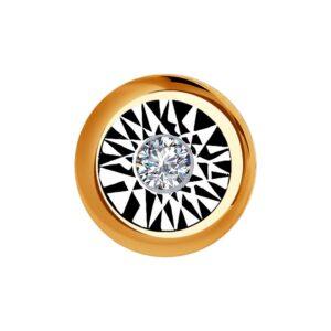 Подвеска из комбинированного золота с бриллиантом