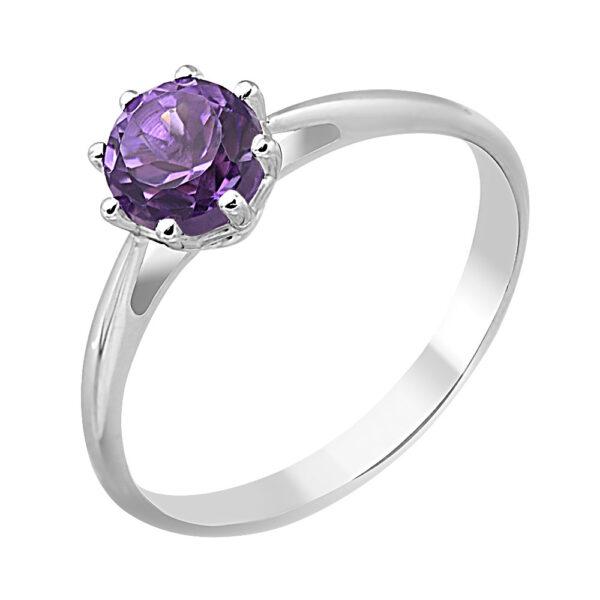 кольцо в серебре с аметистом