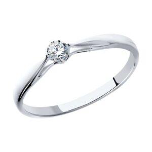 Помолвочное кольцо из белого